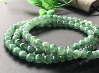MyanmarEmerald Jade Necklace Beads Certified Natural A Grade Burmese Jadeite 7mm Ice Green High Quality Family Friends Gifts