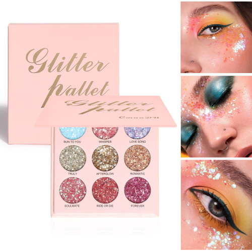 9 colors glitter powder eyeshadow