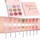 9 colors glitter powder eyeshadow