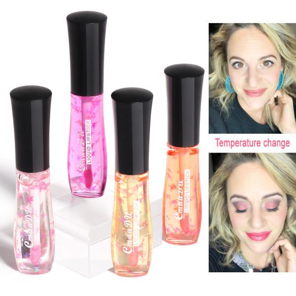 Warm color changing lip glaze
