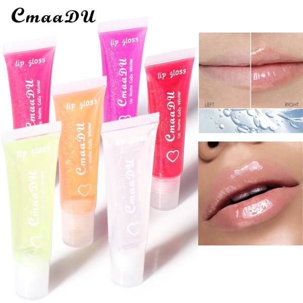 6 colors pure transparent moisturizing lip balm