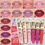20 color thread tube radish head matte metallic pearl lip gloss lipstick