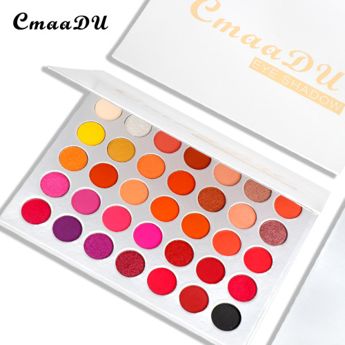 35 color matte eyeshadow metallic waterproof pearl glitter eyeshadow palette