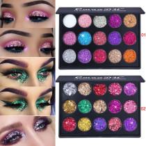 15 color diamond sequin eyeshadow palette