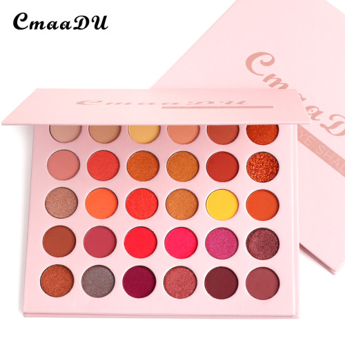 30 color matte eyeshadow metal waterproof pearl glitter eyeshadow palette