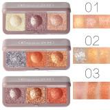 Keyboard fingertips three-color mashed potato eyeshadow earth color beauty