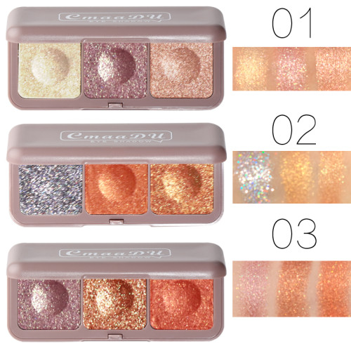 Keyboard fingertips three-color mashed potato eyeshadow earth color beauty