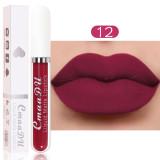 18 color matte non-stick cup waterproof lipstick long lasting lip gloss