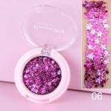 Monochrome glitter powder sequin eyeshadow