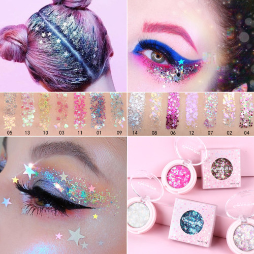 Monochrome glitter powder sequin eyeshadow