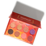 DUNUF 12 color eyeshadow glitter