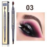 Toothbrush head eyebrow pencil waterproof double head eyebrow pencil