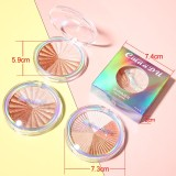 Multicolor baking powder and highlighter