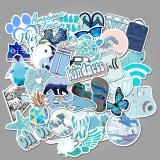 Blue Cartoon ( 50 Pcs )