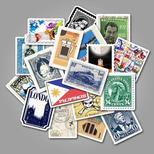 Retro Stamp Postmark ( 50 Pcs )