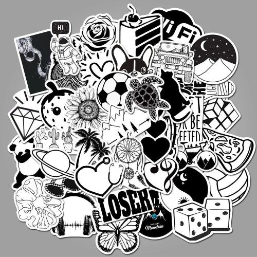 Black and white Cartoon ( 50 Pcs )
