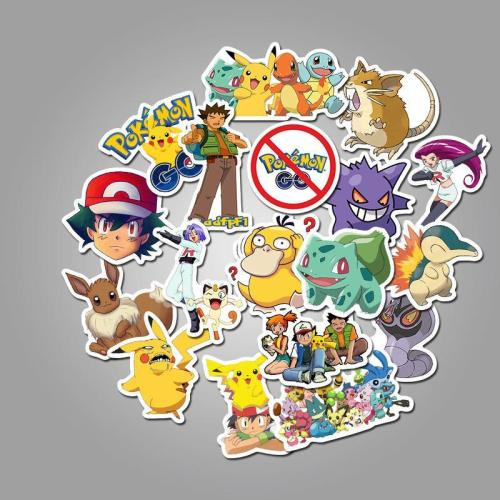 Pokemon Pet Cartoon ( 50 Pcs )
