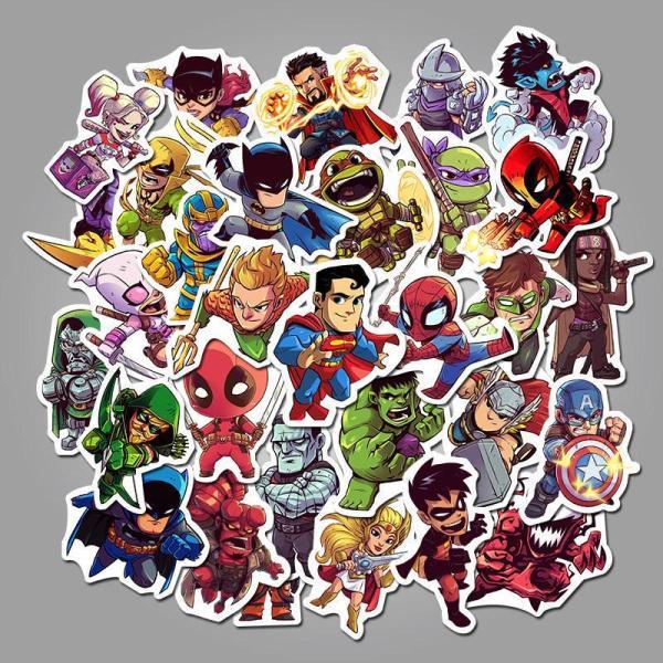 Super Hero Cartoon ( 50 Pcs )
