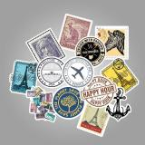 Retro Stamp Postmark ( 50 Pcs )