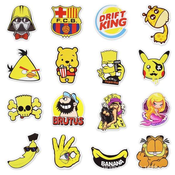 Yellow Cartoon ( 50 Pcs )