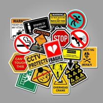Warning Sign ( 50 Pcs )