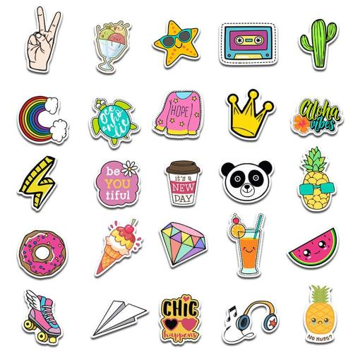 Cute VSCO Cartoon ( 50 Pcs )