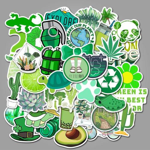 Cute Green Cartoon ( 50 Pcs )