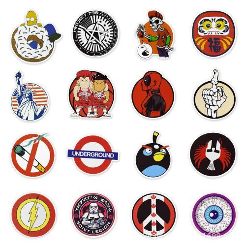 Circle Cartoon ( 50 Pcs )