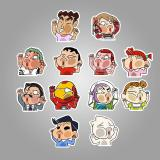 Funny Cartoon Character ( 50 Pcs )