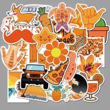 Cute Orange Cartoon ( 50 Pcs )