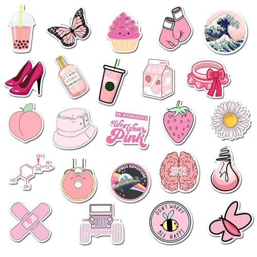 Pink Cartoon ( 50 Pcs )