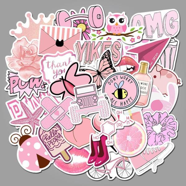 Pink Cartoon ( 50 Pcs )