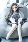 ミニドール 気恵 65cm 体重3.5kg 貧乳 童顔系 収納簡単 TPE製ラブドール