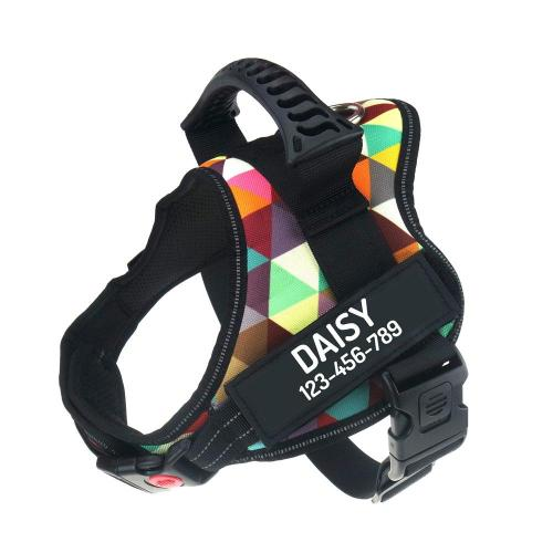 Personalized No Pull Reflective Adjustable Dog Harness