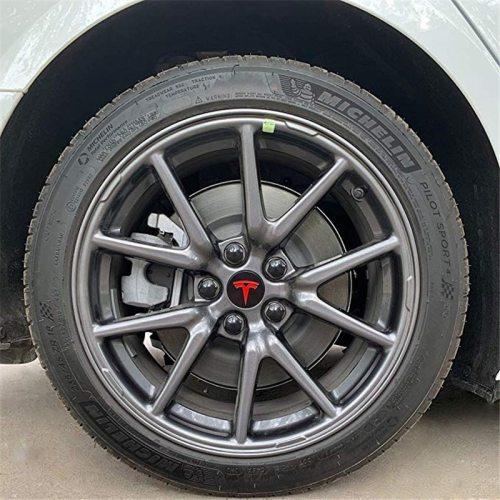 Model 3/S/X Wheel Car Accessories Hub Cover Emblem Badge + Lug Nut Covers