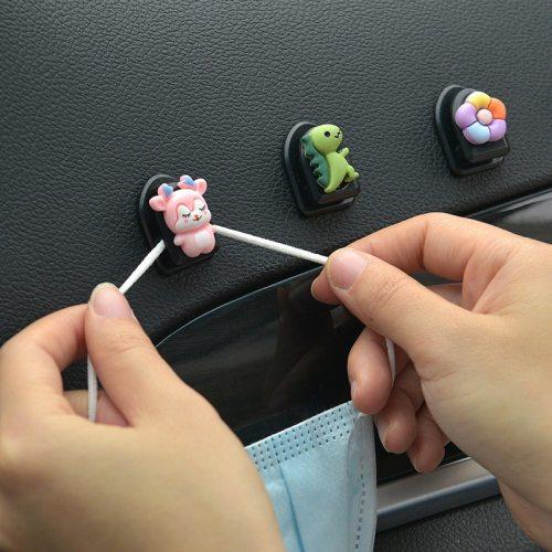 Car Seat Back Cartoon Mini Hook Creative Cute