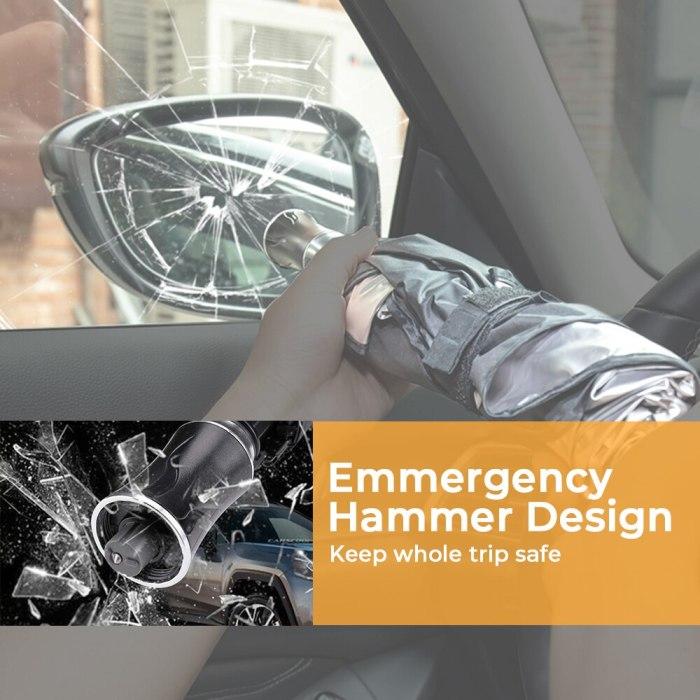 Car Sunshade Cover Umbrella With Safe Hammer For Tesla