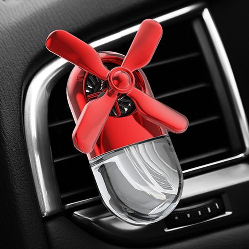 Long Lasting Car Air Freshener Clip Rotating Propeller Air Outlet
