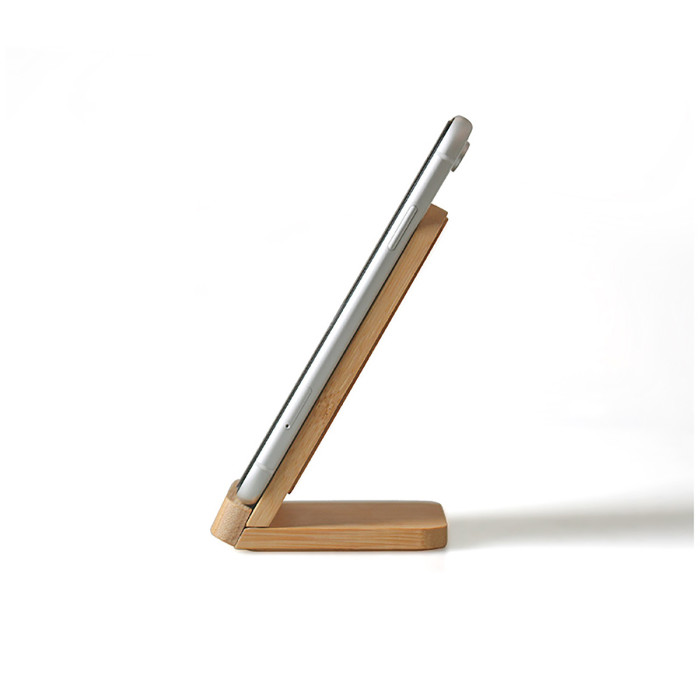 WAT Wooden Qi Wireless Charger Phone Stand 10W