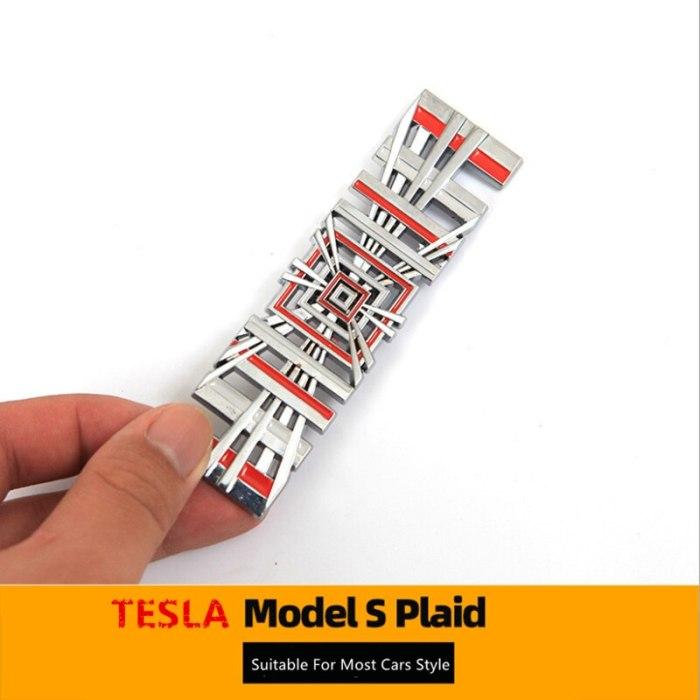 Model S Plaid Chrome Logo For Car