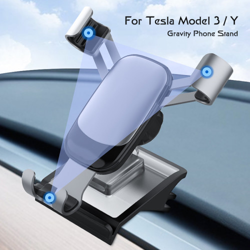Rotating Solar Electric Mobile Phone Holder for Model 3 / Y