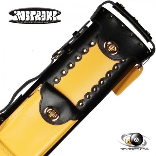 2X4 Black/Yellow Leather Geo Case