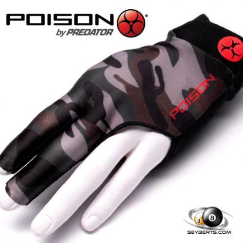 Poison Pool Cue Gloves - Camo Green