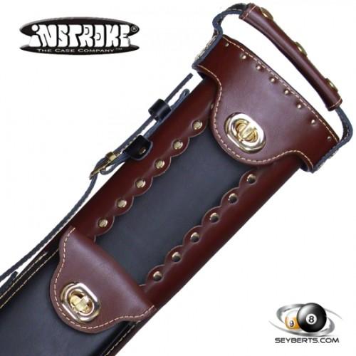 Instroke 2X3 Chestnut/Black Leather Cowboy Cue Case