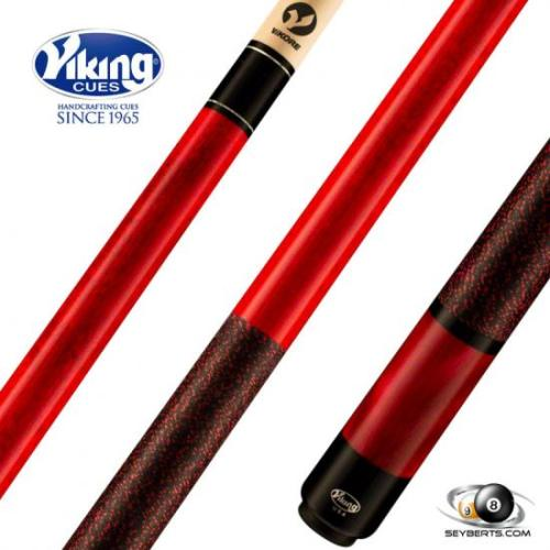 Viking B2802 Crimson Stained Red Pearl Play Cue Linen Wrap
