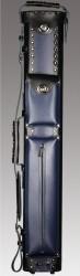 2X4 Black/Blue Leather Geo Case