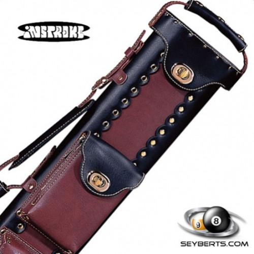 Instroke 2X3 Black/Chestnut Leather Cowboy Cue Case