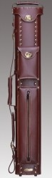 Instroke 2X3 Chestnut Leather Cowboy Cue Case