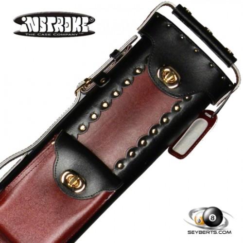 2X4 Black/Burgundy Leather Geo Case