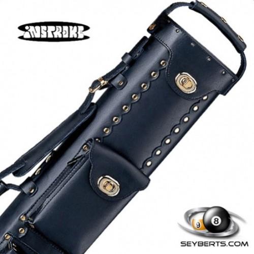 Instroke 2X3 Black Leather Cowboy Cue Case